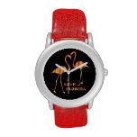 Reloj rojo de StrapeWatchFactory del brillo de la