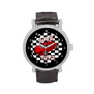Reloj rojo del coche de deportes de los juguetes