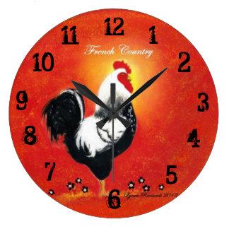 Reloj rojo del gallo