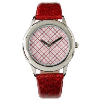 Reloj rojo del modelo de la red