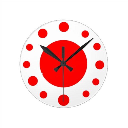 Reloj rojo del punto