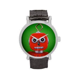 Reloj rojo del robot