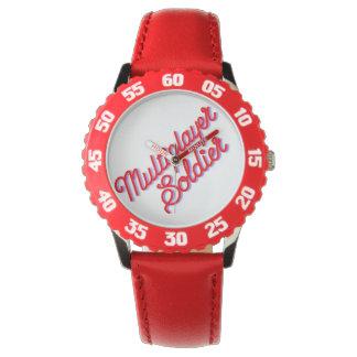Reloj rojo del soldado multijugador