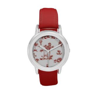 Reloj rojo del unicornio de Toile