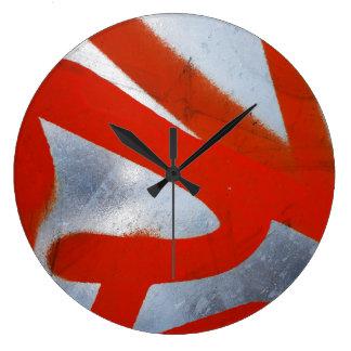 Reloj rojo metálico de Homeware el |