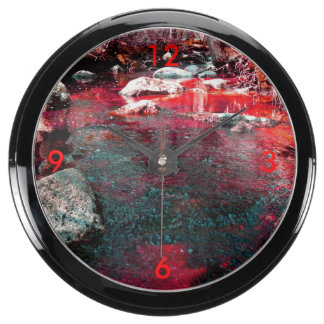 Reloj rojo sangre del acuario de la tortícolis reloj aquavista