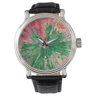 Reloj rojo y verde de Paintball