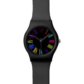 Reloj romano colorido de los numeros de PixDezines