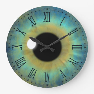 Reloj romano redondo grande del globo del ojo del