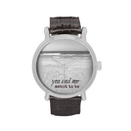 Reloj romántico de la cita del amor de la playa