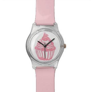 Reloj rosa claro de la magdalena