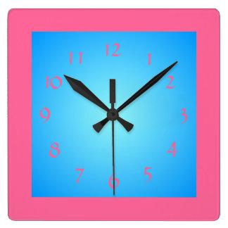 Reloj rosado de /Blue Face>Wall del huésped de Cer