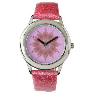 Reloj rosado de Kalidiscope