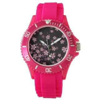 Reloj rosado de Sakura