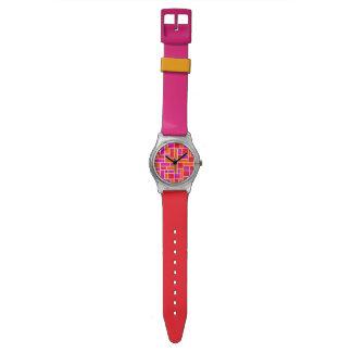 Reloj rosado del bloque May28th del color