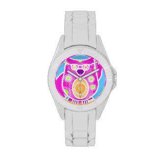 Reloj rosado del búho