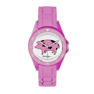 Reloj rosado del cerdo