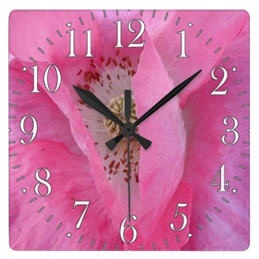 Reloj rosado del diseñador de los Flor-amantes de