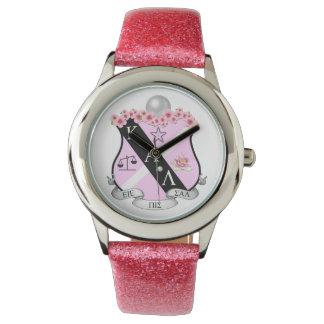 Reloj rosado del escudo de KAL