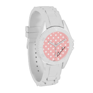 Reloj rosado del lunar