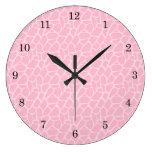 Reloj rosado del modelo de la jirafa