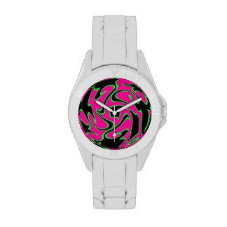 Reloj rosado del remolino