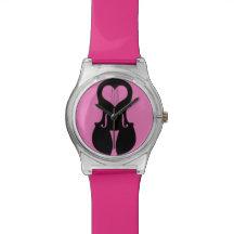 Reloj rosado del violín