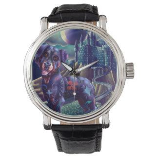 Reloj Roxy de la correa de cuero del vintage el