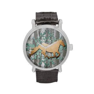 Reloj rústico del caballo