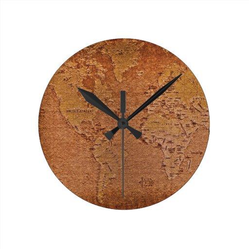 Reloj rústico del diseñador del arte del Grunge