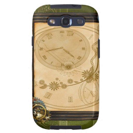 Reloj Samsung-Galaxy-S3-Vibe de SteamPunk del vint Galaxy S3 Coberturas
