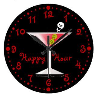 Reloj sangriento divertido de Martini de la hora f