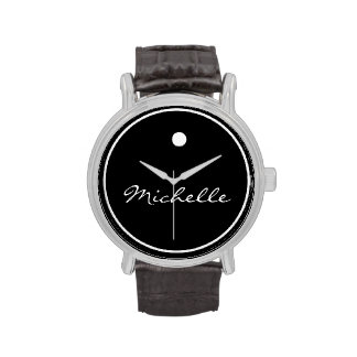Reloj simple del estilo del monograma