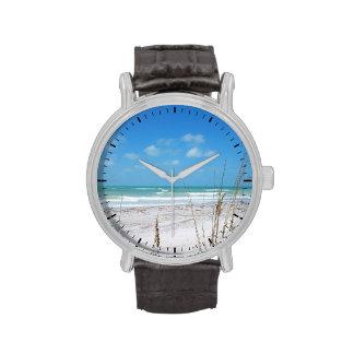 Reloj soleado de la playa de la Florida