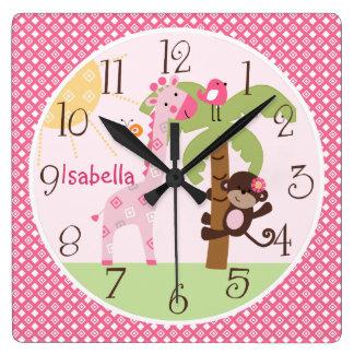 Reloj soleado personalizado del cuarto de niños