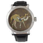 Reloj soñador del damasco de los camellos