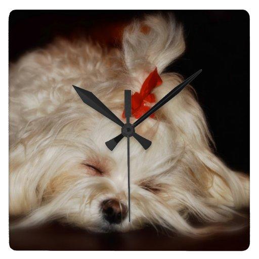 Reloj soñoliento del perrito de Lois Bryan