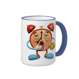Reloj soñoliento taza de dos colores