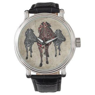Reloj subió vintage de las cebras