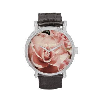 Reloj subió vintage romántico del acero inoxidable