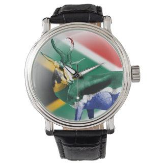 Reloj surafricano de la bandera de Springbock