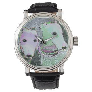 Reloj surrealista de la obra maestra de los galgos