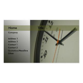 Reloj Tarjetas De Visita