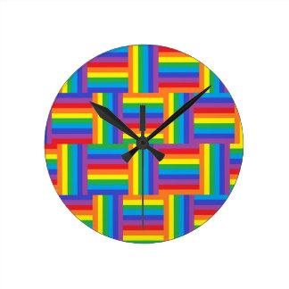 Reloj tejido del arco iris