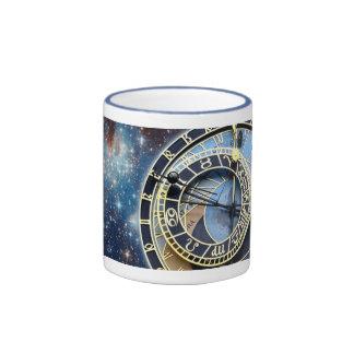 Reloj-Time y espacio astronómicos de Praga Taza A Dos Colores