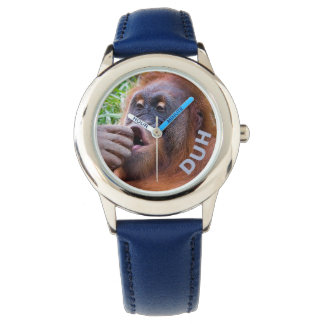 Reloj torpe del orangután de la expresión