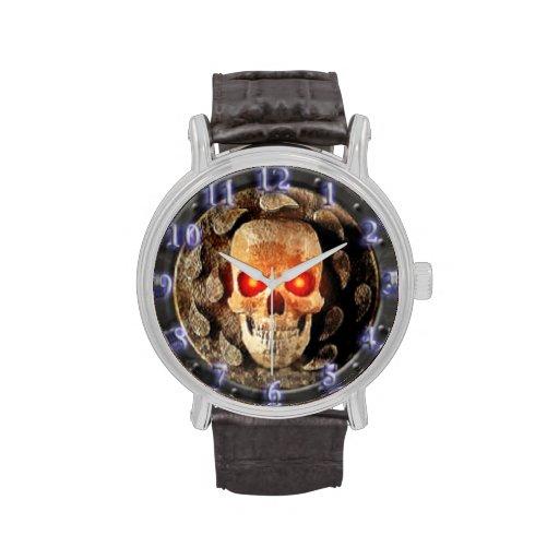 Reloj travieso del cráneo