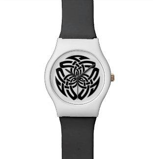 Reloj (triple) céltico del nudo cuadrado