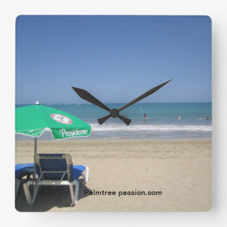 reloj tropical de la playa