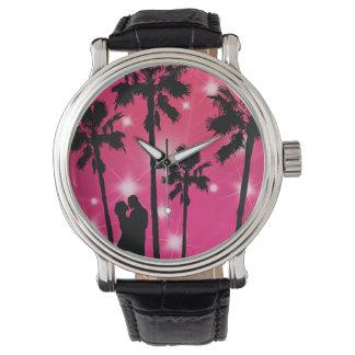 Reloj tropical de la puesta del sol de las señoras